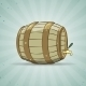 Wooden Barrel filled with Beer or Wine - GraphicRiver Item for Sale