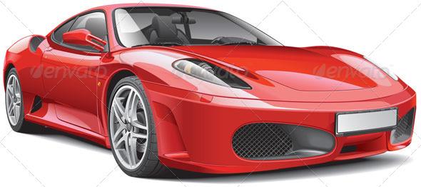 Red Italian Supercar - Vectors
