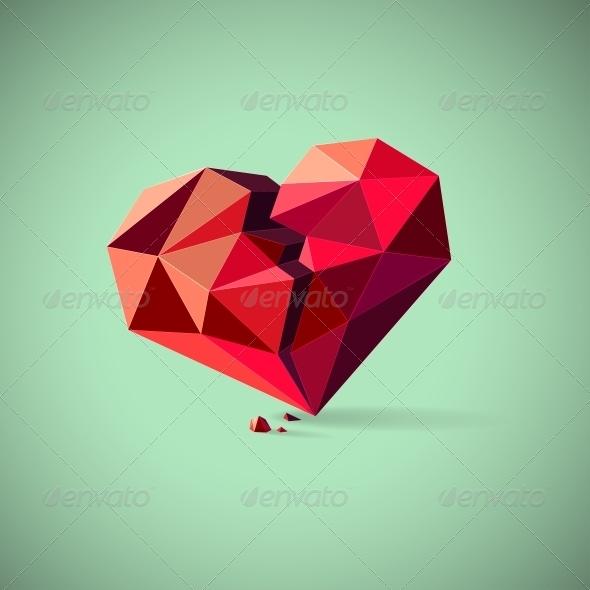 Broken Heart  - Abstract Conceptual