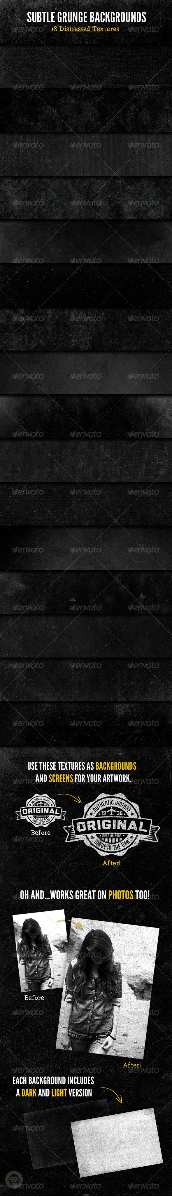 Subtle Grunge Backgrounds - Miscellaneous Backgrounds