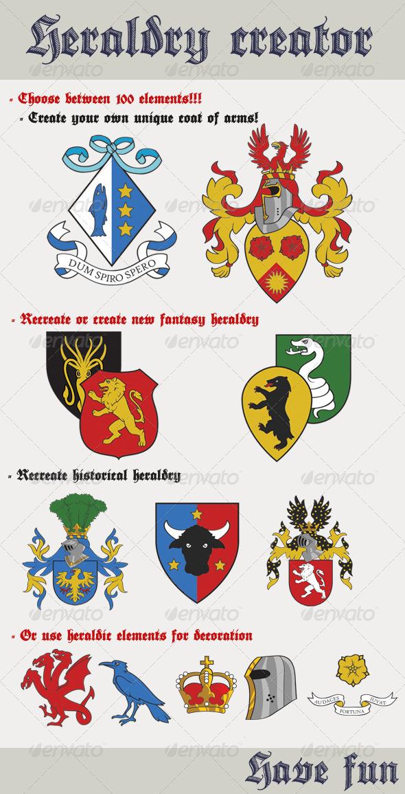 Heraldry Creator - Decorative Symbols Decorative