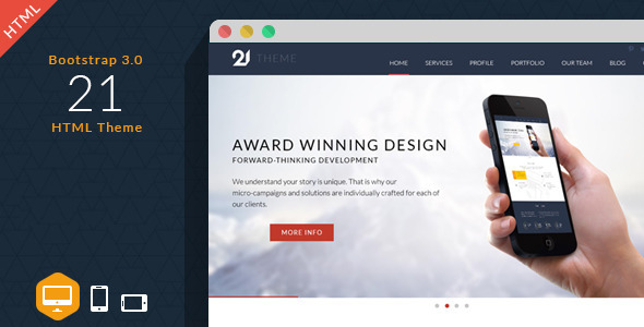 21 – Corporate & Business HTML Theme