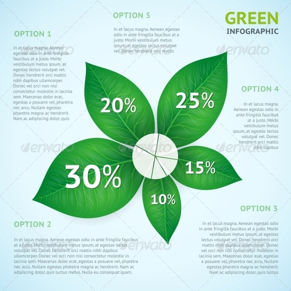 Eco Green Infographics Concept - Concepts Business