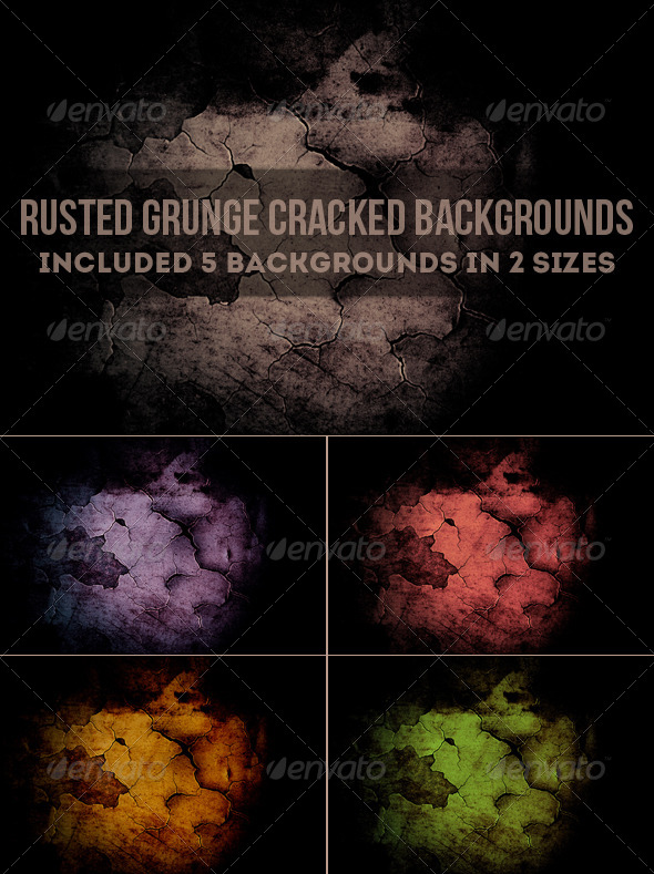 Rusted Grunge Cracked Backgrounds - Urban Backgrounds