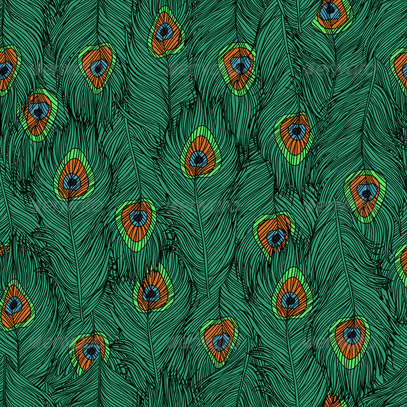 Peacock's Feathers Pattern - Decorative Symbols Decorative