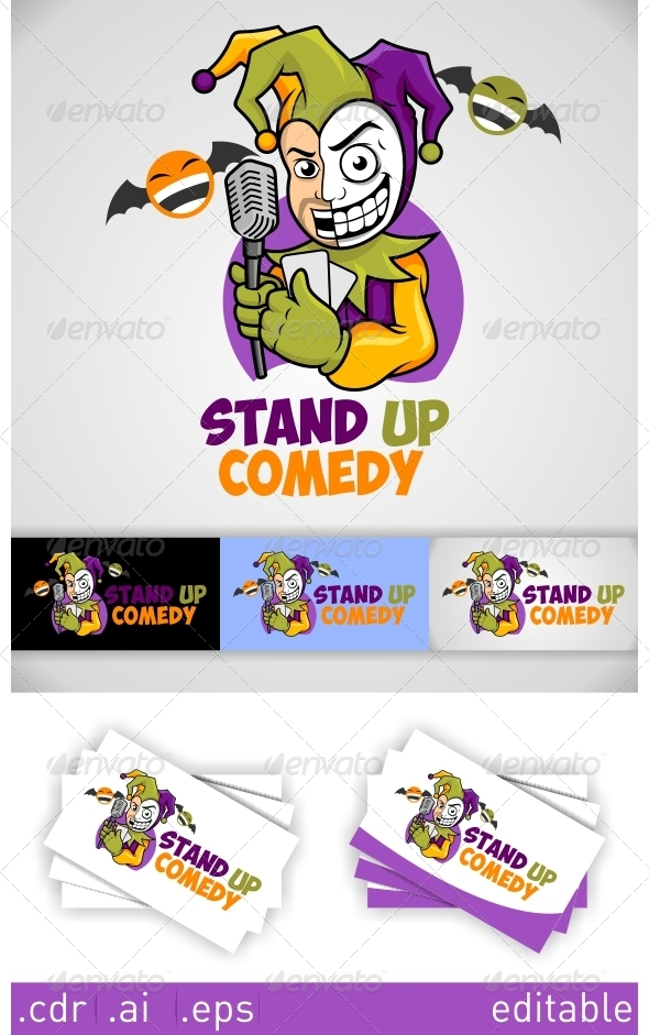 Stand Up Comedy Logo - Humans Logo Templates