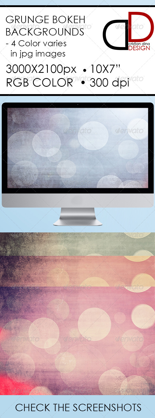 Abstract Grunge Bokeh Backgrounds - Backgrounds Graphics