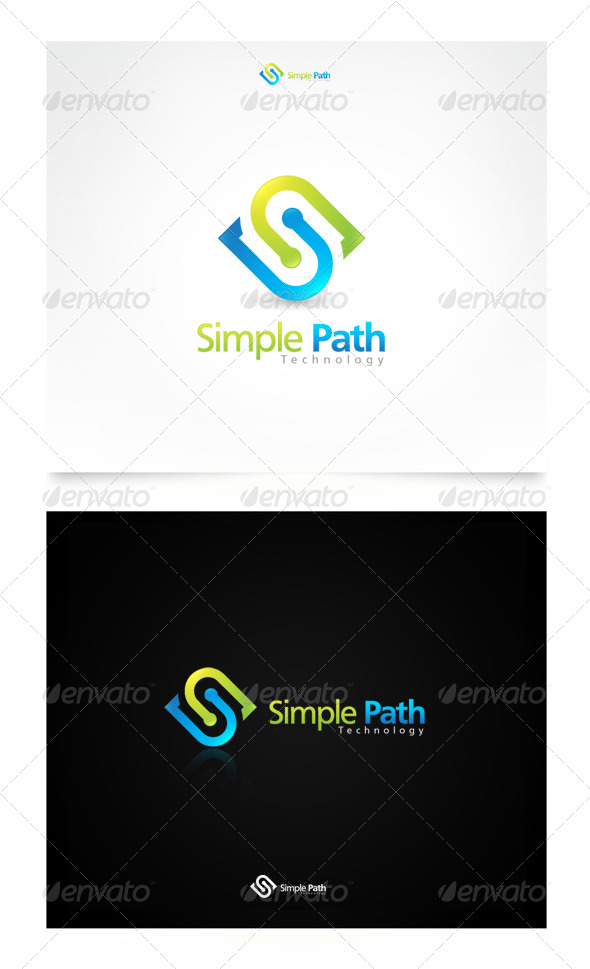 Simple Path Technology - Letters Logo Templates