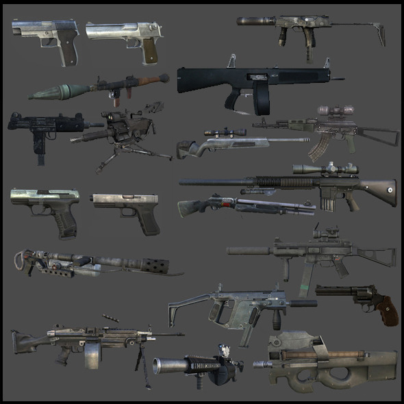 Modern Weapons Pack - 3DOcean Item for Sale