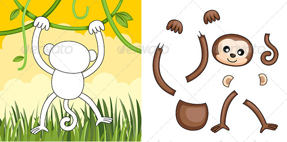 Monkey Puzzle - Animals Characters