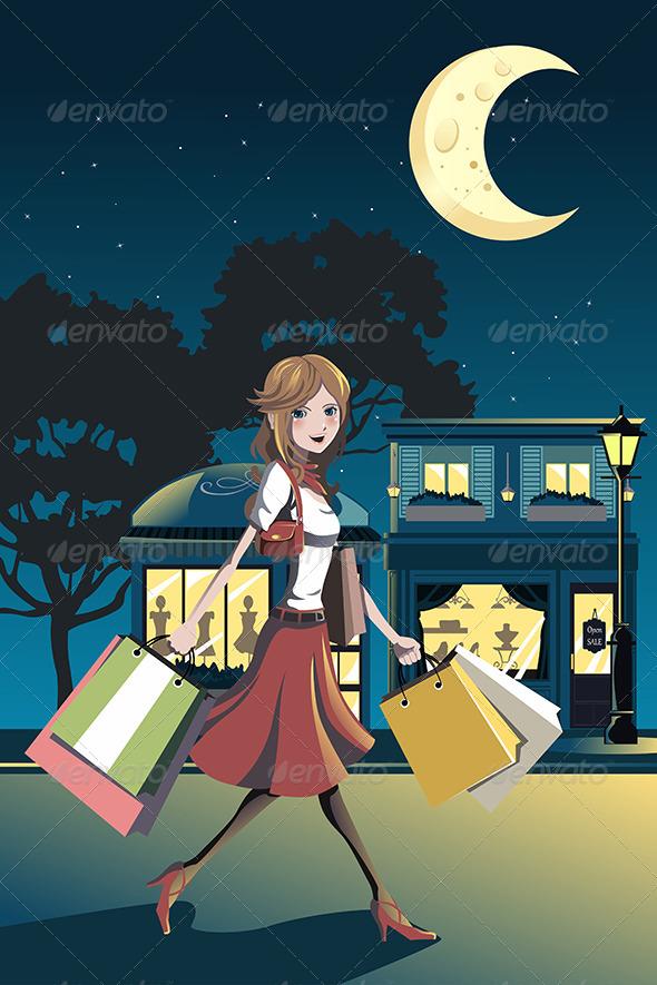 Shopping Woman - Commercial / Shopping Conceptual