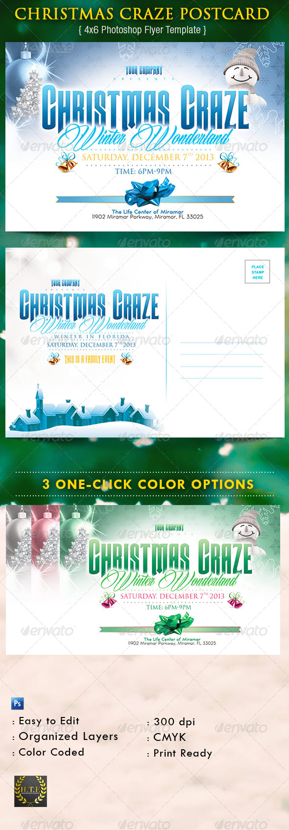 Christmas Craze Postcard - Holidays Events