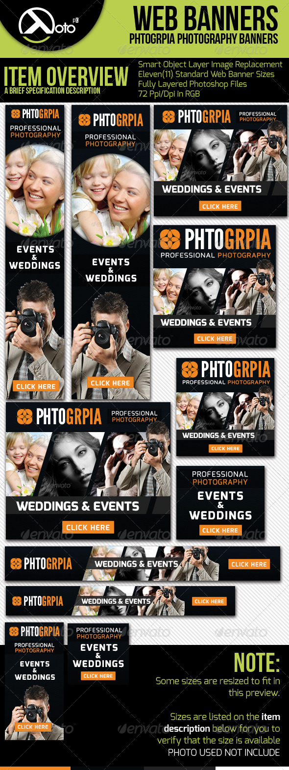 Photographia Professional Photography Web Banners - Banners & Ads Web Elements