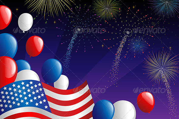 Fourth of July Fireworks - Seasons/Holidays Conceptual