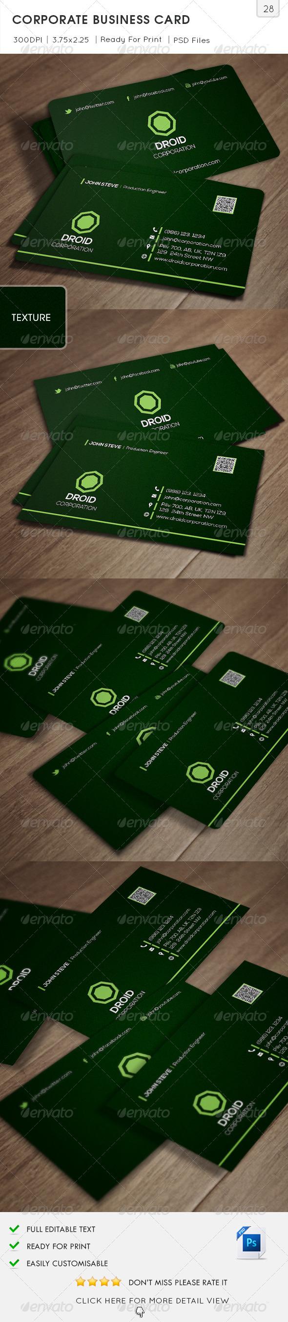 Corporate Business Card v28 - Corporate Business Cards