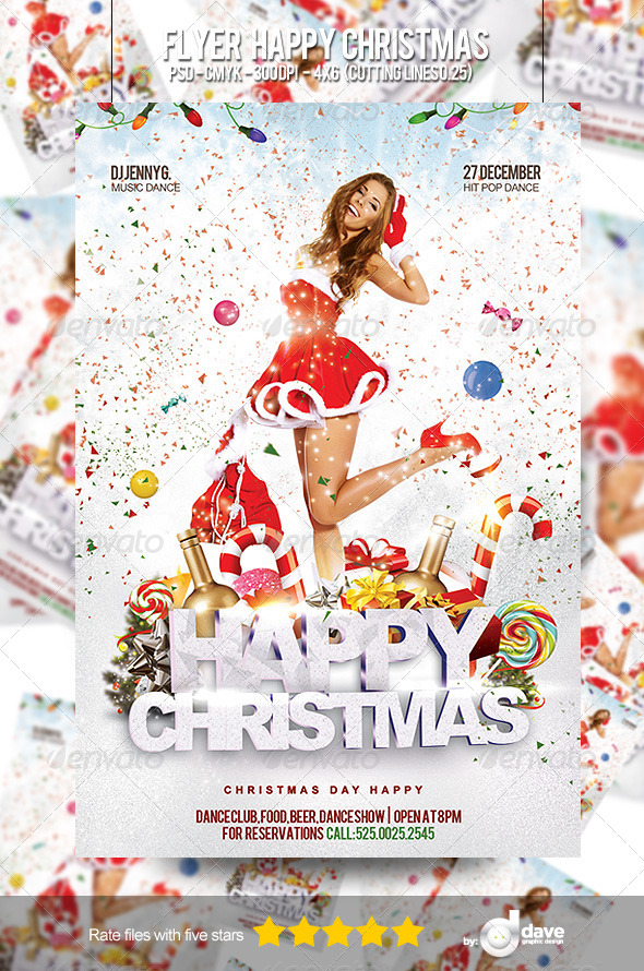 Flyer Happy Christmas - Clubs & Parties Events
