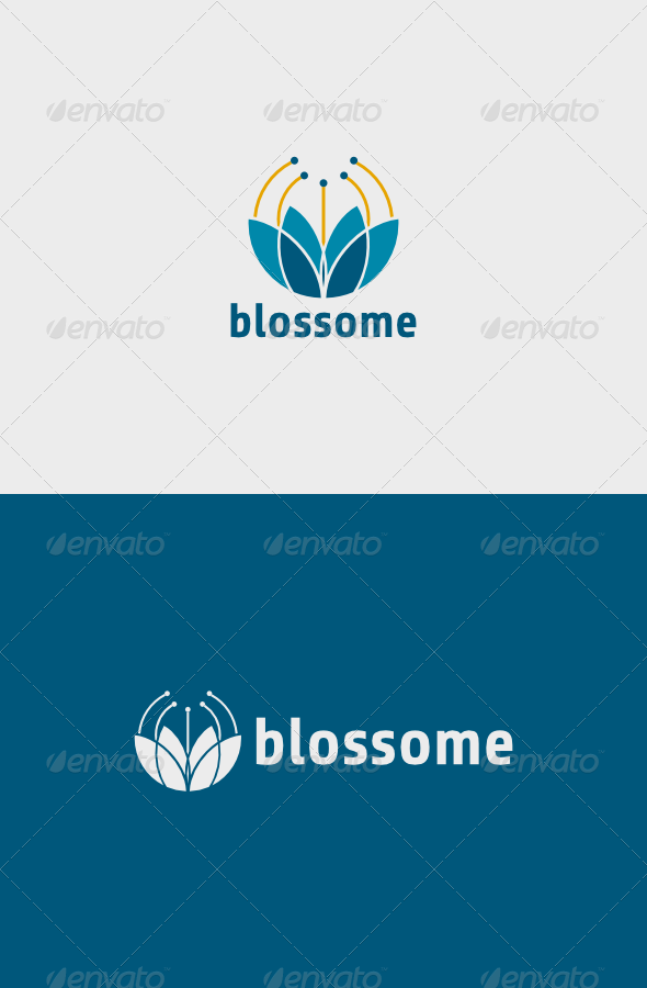 Blossome Logo  - Vector Abstract