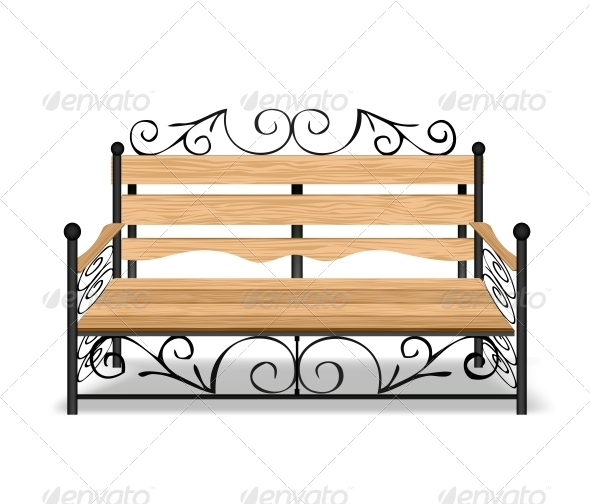 Classical Park Bench - Buildings Objects