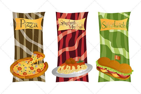 Italian Food Menu - Food Objects
