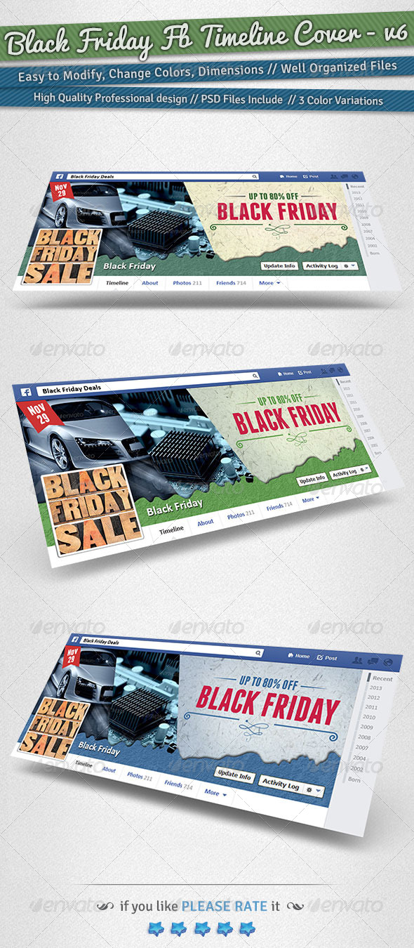 Black Friday / Promotion Timeline Cover | Volume 6 - Facebook Timeline Covers Social Media