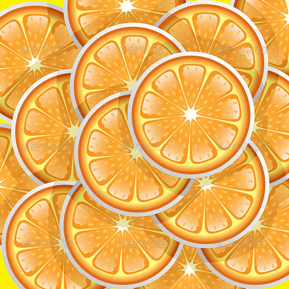 Oranges Slices Pattern - Backgrounds Decorative