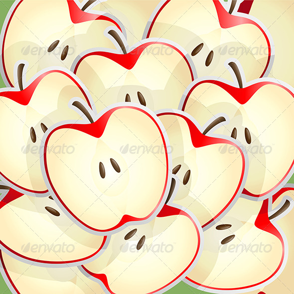Apples Slices Pattern - Backgrounds Decorative