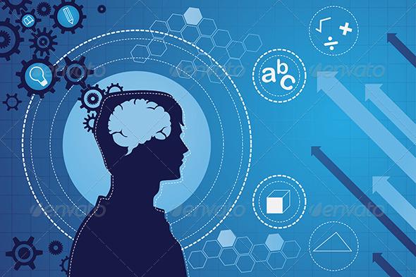 Human Brain Function Concept - Conceptual Vectors