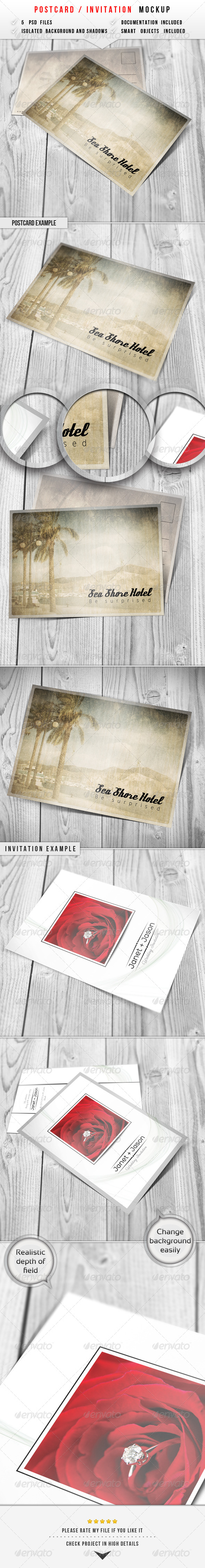 Postcard & Invitation Mockup - Miscellaneous Print