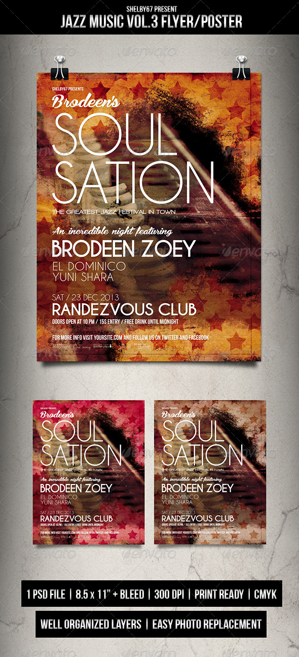 Jazz Music Flyer / Poster Vol.3 - Clubs & Parties Events