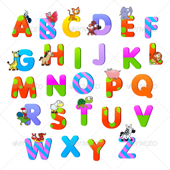 Alphabet with Animals. - Animals Characters