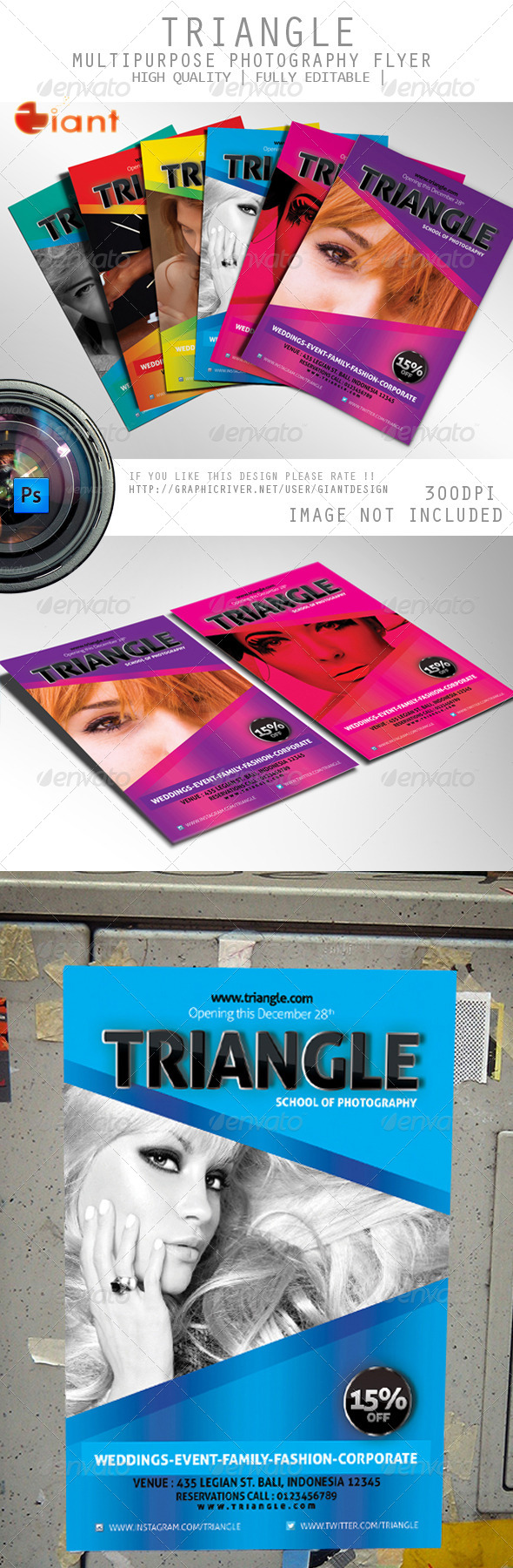 Triangle Multipurpose Photography Flyer