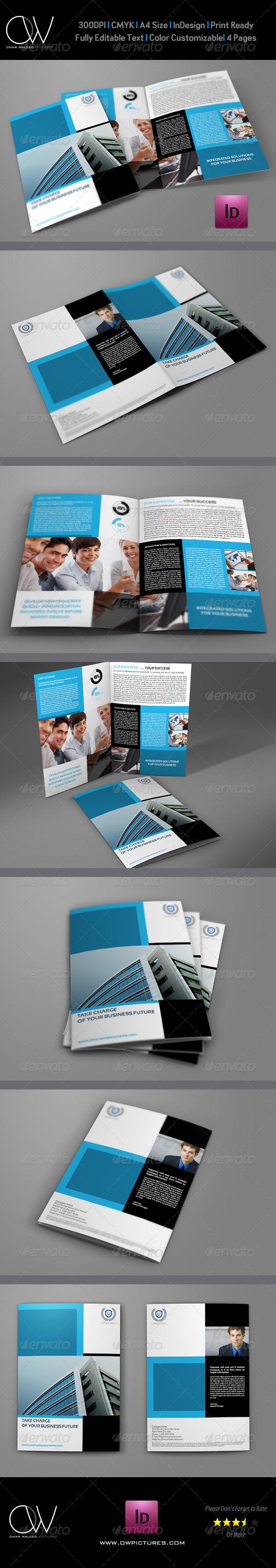 Company Brochure Bi-Fold Template Vol.9 - Corporate Brochures