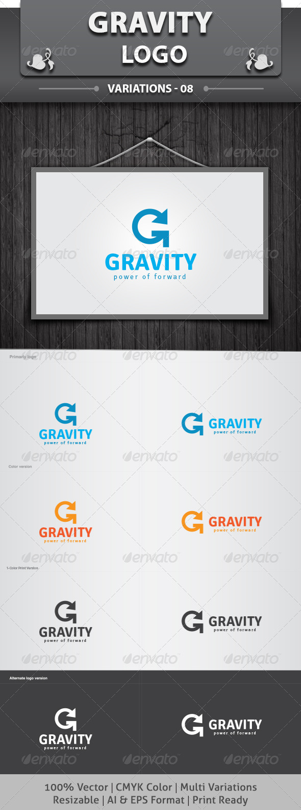 Gravity Logo - Letters Logo Templates