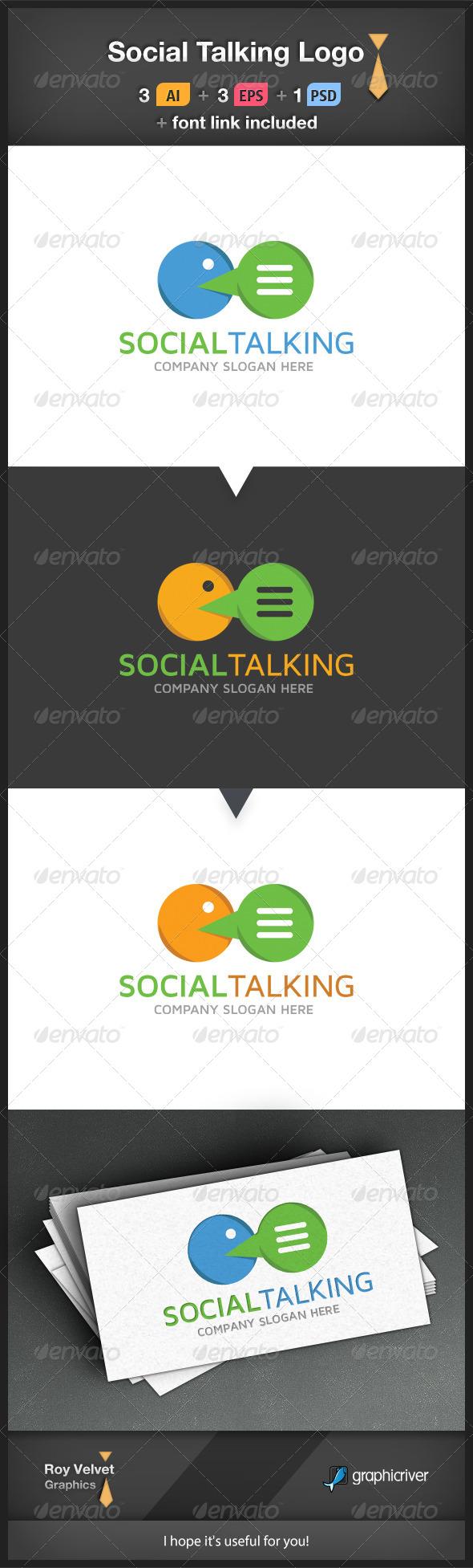 Social Talking Logo - Symbols Logo Templates