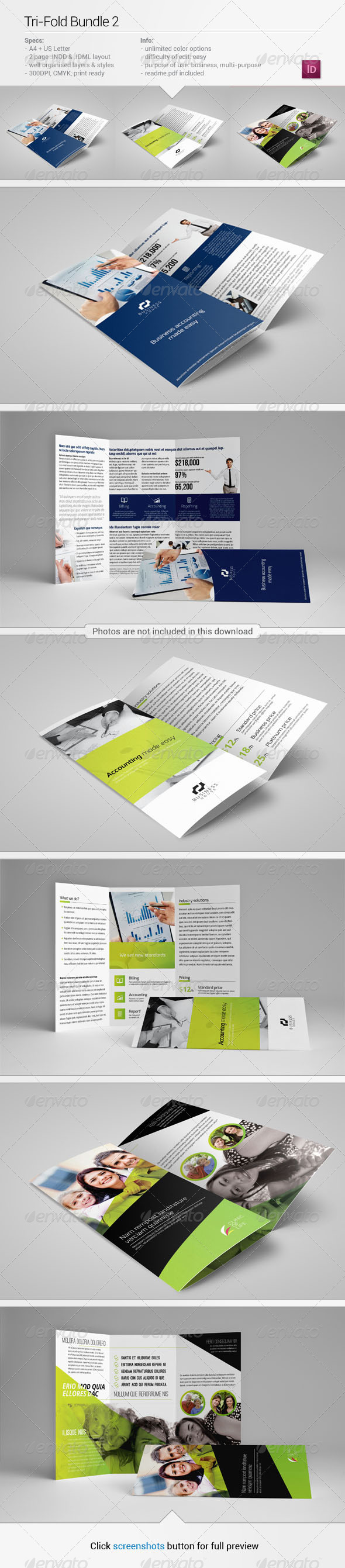 Tri-Fold Bundle 2 - Corporate Brochures