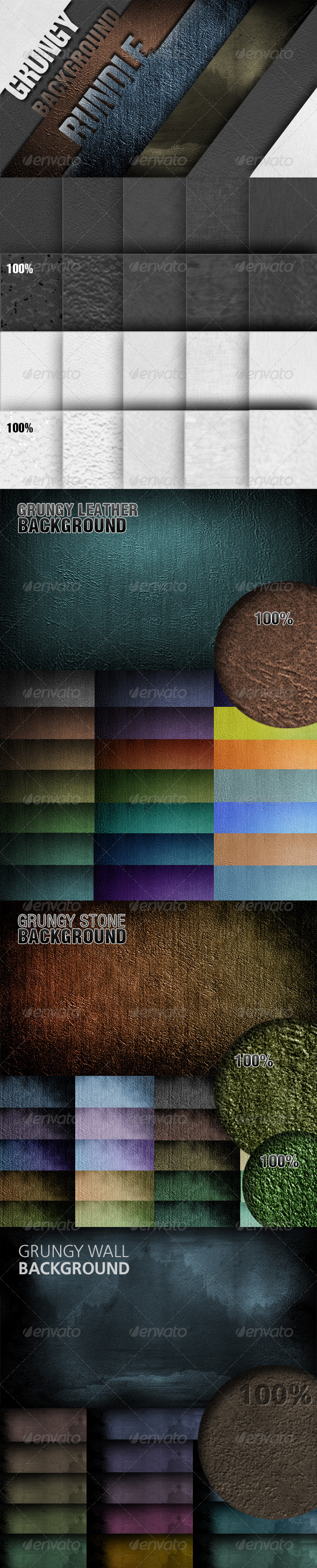 Grungy  Background Bundle - Abstract Backgrounds