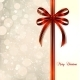 Red Bow on a Christmas Card - GraphicRiver Item for Sale