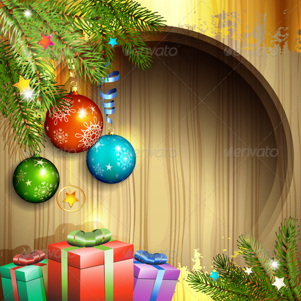 Christmas Ball and Gifts - Christmas Seasons/Holidays