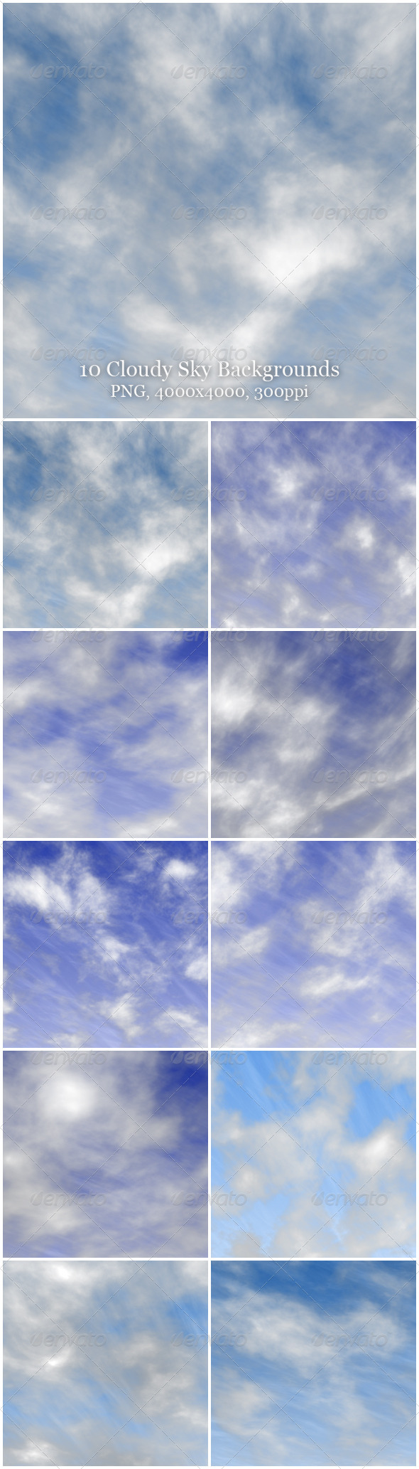 10 Cloudy Sky Backgrounds - Nature Backgrounds