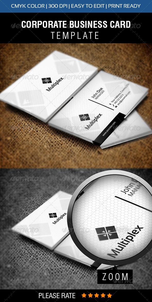 Multiplex Business Card - Corporate Business Cards