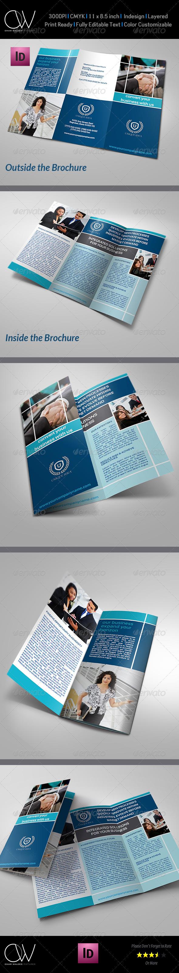 Company Brochure Tri-Fold Brochure Vol.4 - Corporate Brochures