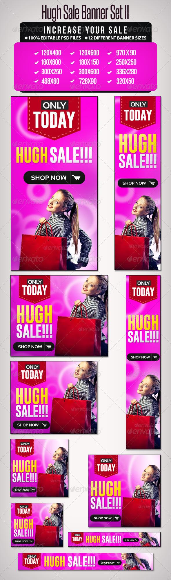 Hugh Sale Banner Set - 2 - Banners & Ads Web Elements