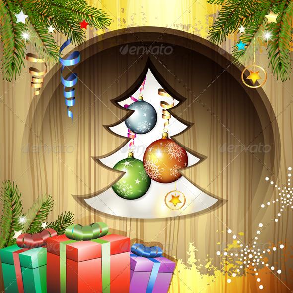 Christmas Balls and Gifts - Christmas Seasons/Holidays