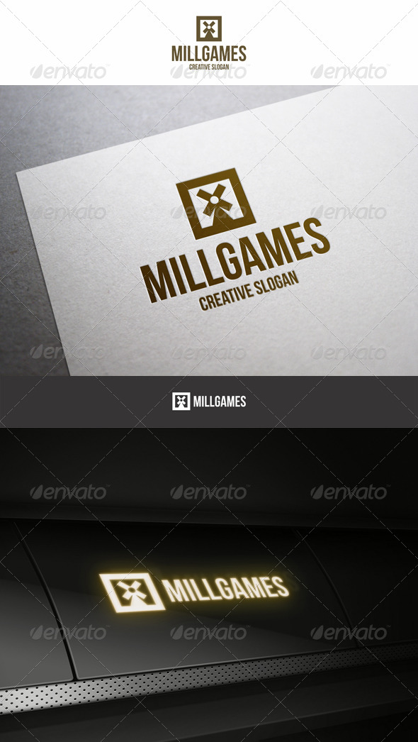 Mill Games Entertainment Logo - Symbols Logo Templates