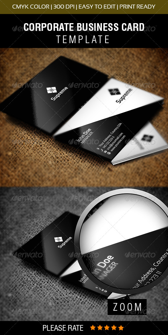 Supreme Business Card - Corporate Business Cards
