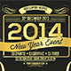 New Year Gold Stamp Flyer/Card - GraphicRiver Item for Sale