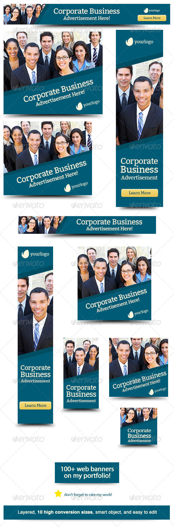 Corporate Web Banner Design Template 32 - Banners & Ads Web Elements