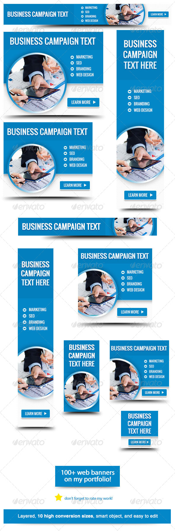 Corporate Web Banner Design Template 33 - Banners & Ads Web Elements