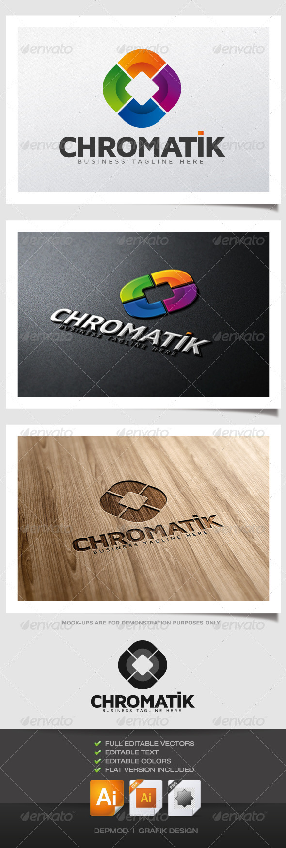 Chromatik Logo - Abstract Logo Templates