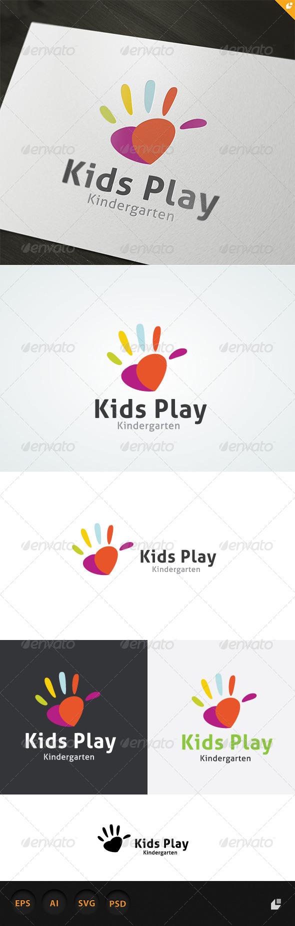 Kids Play Logo - Humans Logo Templates